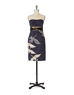 Midnight Migration Sheath - Anthropologie.com :  blue midnight print dress