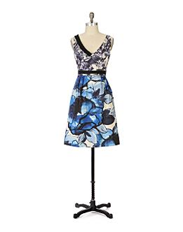 Indigo Garden Dress - Anthropologie.com :  blue print dress