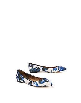 South Palm Skimmers - Anthropologie.com :  floral blue printed shoes