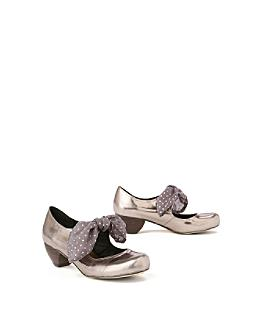 Mercurial Mary-Janes - Anthropologie.com :  mercurial retro heels metallic