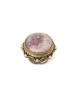 Travertine Ring - Anthropologie.com :  stone lepidolite ecclectic purple
