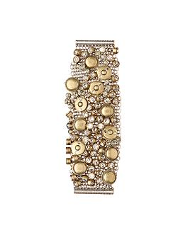 Juxtaposed Bracelet - Anthropologie.com :  bracelet buttons mesh crystal