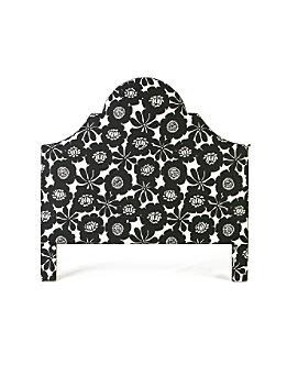 Ardenne Headboard, Black Blossom-Anthropologie.com :  decor bedroom bed black and white