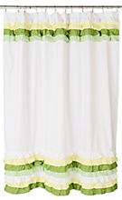 Anthropologie.com > Bathing > Bathroom :  home shower shower curtain green