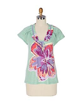 Gloriosa Lily Top - Anthropologie.com :  fashion top clothing womens