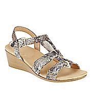 Vionic with Orthaheel Technology Glenda Strappy Wedge Sandals - 89143