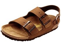 Birkenstock Milano Cocoa Nubuck with Soft Footbed