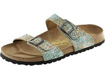 Papillio Sydney Corkflower Turquoise Leather