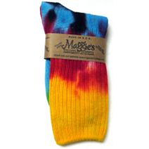 Cotton Crew Sock in Tie Dye Bold by Maggie\'s Organics
