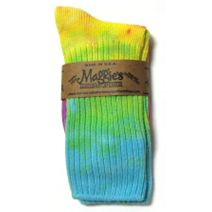 Cotton Crew Sock in Tie Dye Lite by Maggie\'s Organics