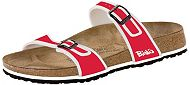 Birkis Tahiti Sport Red Birkoflor with Soft Footbed