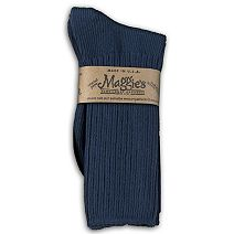 Cotton Crew Socks in Navy by Maggie\'s Organics