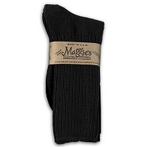 Cotton Crew Socks in Black by Maggie\'s Organics