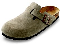 Birkenstock Boston Taupe Suede with High Arch