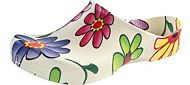 Birki Clog White Flower by Birkis