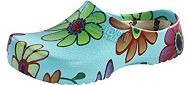 Super Birki Clog Blue Flower by Birkis