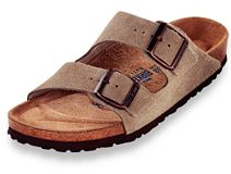 Birkenstock Arizona Taupe Suede with Soft Footbed