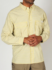Men's Air Strip™ Micro Plaid Long-Sleeve Shirt