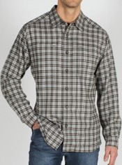 Men's Trailing Off™ Micro Plaid Flannel Long-Sleeve Shirt