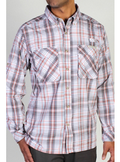 Men's Air Strip™ Macro Plaid Long Sleeve Shirt