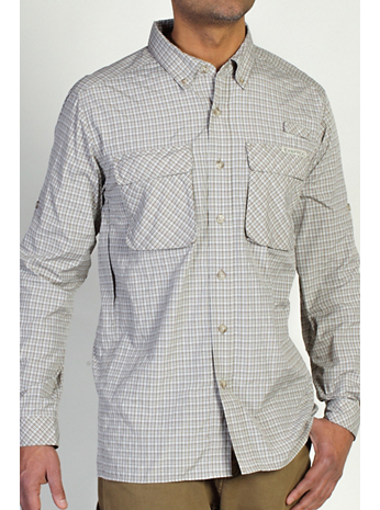 Men's Air Strip™ Micro Plaid Long Sleeve Shirt