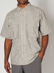 Men's Air Strip™ Micro Plaid Short-Sleeve Shirt