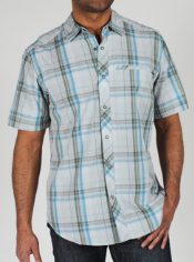 Men's Roughian™ Macro Plaid Short-Sleeve Shirt