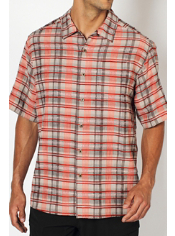 Men's Now Boarding™ Plaid Short-Sleeve Shirt