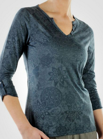 Women's aZa™ 3/4 Sleeve Notch Neck Shirt