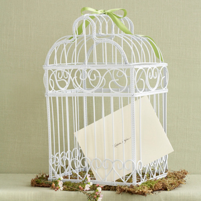 Bird Cage Wedding Money Card Box