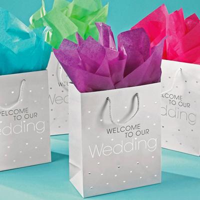 Wedding Cake Bags  Guests on Wedding Weekend Hospitality Bags