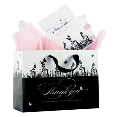 Wedding Party on Custom Designed Black And White Gift Bags   Wedding Party Gifts
