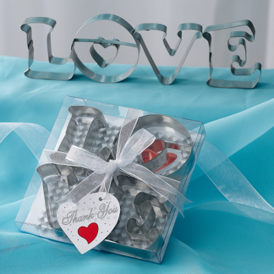 Wedding Cookie Cutters on Love Cookie Cutters  Practical Wedding Favors