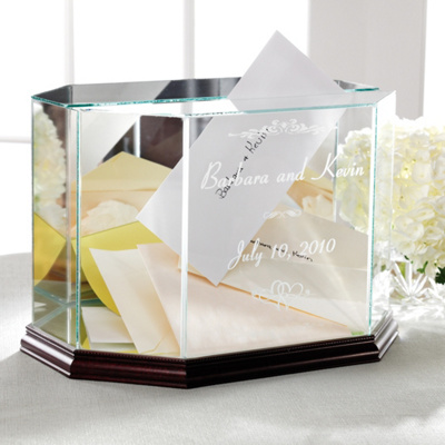 wedding reception card boxes on personalized glass wedding box