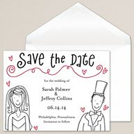 Bride and Groom Save-the-Date Card