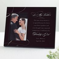 To My Father Wedding Photo Frame