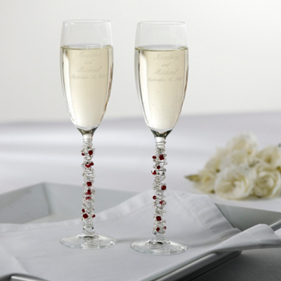 Austrian Crystal Wedding Toasting Flutes You May Also Like