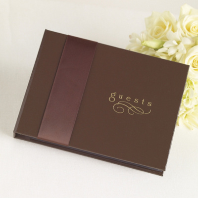 Chocolate Wedding Guest Book