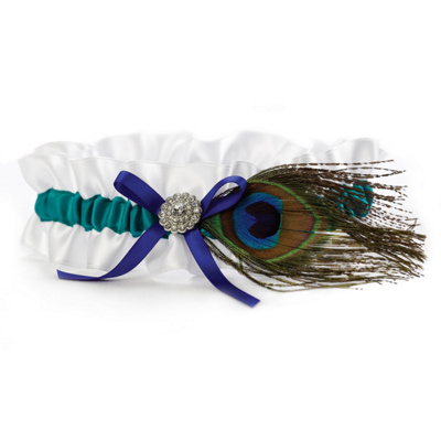Bridal Accessories Bridal Tossing Garters Peacock Garter