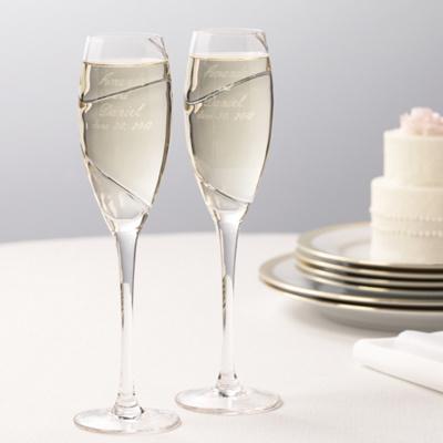 Bench 39 s blog some wedding toasting flutes like for Wedding champagne flutes