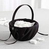 Black Flower Girl Basket