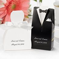 Bride and Groom Favor Boxes/Set of 24