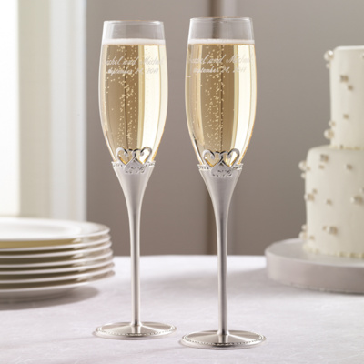 Two Hearts One Love Wedding Toasting Flutes You May Also Like