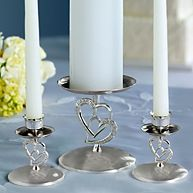 Twin Heart Wedding Unity Candle Holders