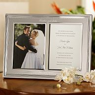 Vera Wang Wedding Photo Invitation Frame