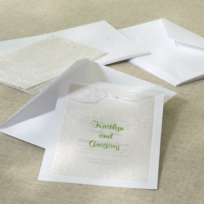 Wedding Invitations on White Vines Diy Wedding Invitation Kit   Diy Wedding Invitations