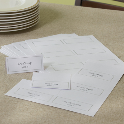 Platinum Trim White DIY Wedding Place Cards You May Also Like