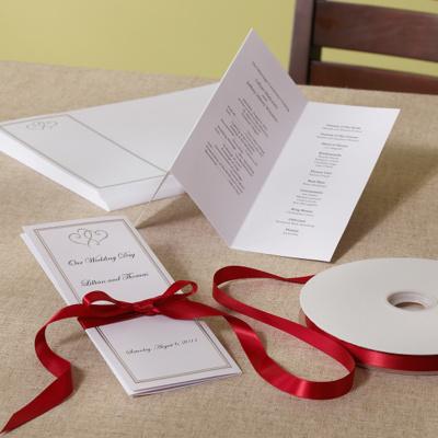 Platinum Hearts Wedding Program DIY Kit You May Also Like