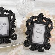 """Black Baroque"" Place Card Holder/Photo Frame"