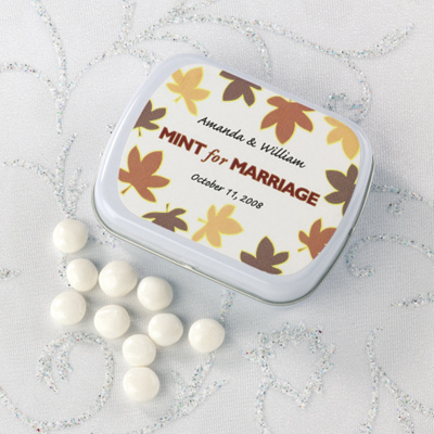 Unique Wedding Favors Edible Wedding Favors Fall Leaves Design Mint